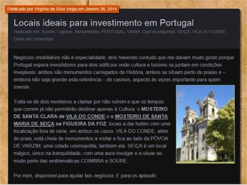 Clique para ver mais: Locais ideais para investimento em Portugal