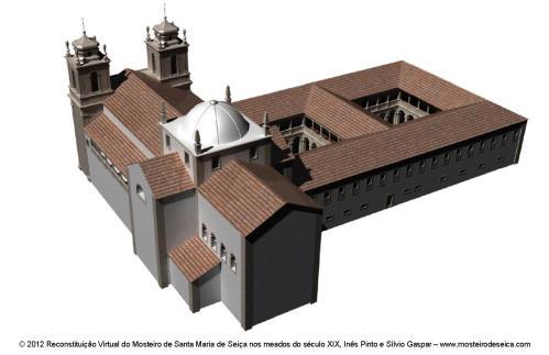 Reconstituição Virtual do Mosteiro de Santa Maria de Seiça nos meados do século XIX_04