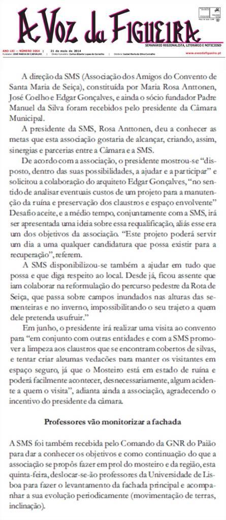 Limpezas_no_Mosteiro_de_Seica_A Voz da Figueira_21052014